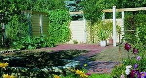 Schutzwand for Gartenplatz gestalten